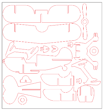 Plane 3D ( .crd, .dxf, .psd, .cpt, .jpg, .png ) - 25 April